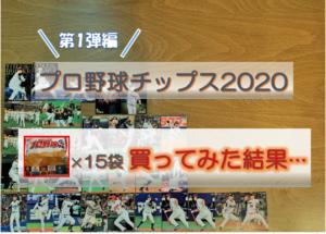 「プロ野球チップス2020<第1弾>を15袋買ってみた結果」記事のリンク画像