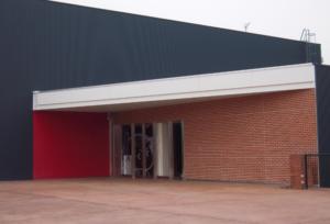 マツダスタジアム屋内練習場の2階入口